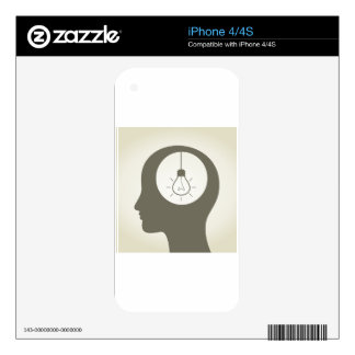 Idea in a head decal for iPhone 4