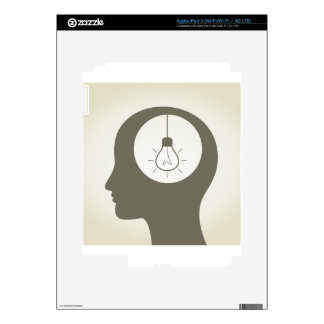 Idea in a head decals for iPad 3