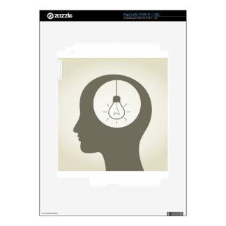 Idea in a head iPad 2 skin