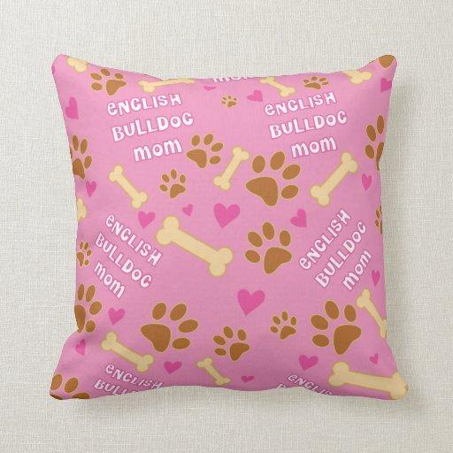 Idea inglesa del regalo de la mamá de la raza del  cojines