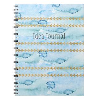 Idea Journal in Watercolor Glacier Blue