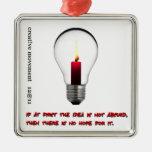 Idea Light Bulb Candle Ornament