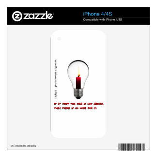 Idea Light Bulb Candle Skins For iPhone 4S