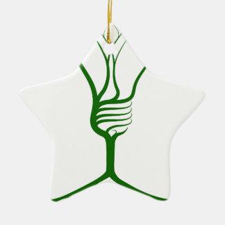 Idea light bulb tree ceramic ornament