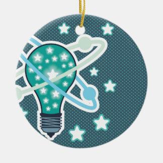 Idea Light bulb Vector pop art Ceramic Ornament