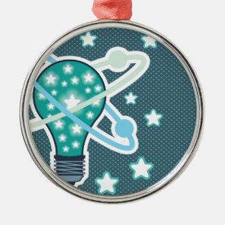 Idea Light bulb Vector pop art Metal Ornament