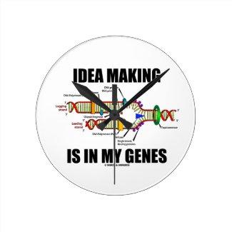 Idea Making Is In My Genes (DNA Replication) Wallclock