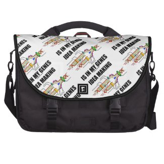 Idea Making Is In My Genes (DNA Replication) Laptop Computer Bag