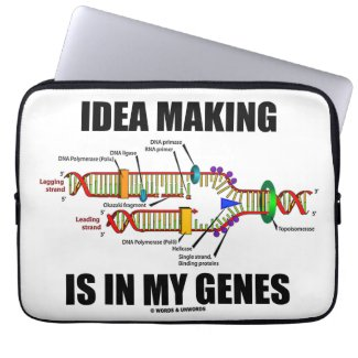 Idea Making Is In My Genes (DNA Replication) Computer Sleeve