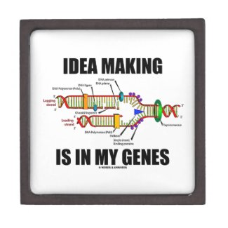 Idea Making Is In My Genes (DNA Replication) Premium Trinket Boxes