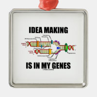 Idea Making Is In My Genes (DNA Replication) Square Metal Christmas Ornament