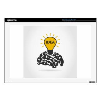 """Idea of a brain 17"""" laptop decal"""