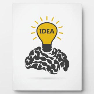 Idea of a brain plaque