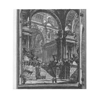 Idea of real-Hall by Giovanni Battista Piranesi Notepad