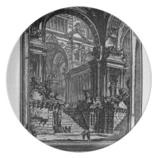 Idea of real-Hall by Giovanni Battista Piranesi Plate