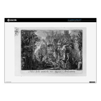 """Idea of the ancient Via Appia and Ardeatina 15"""" Laptop Decals"""
