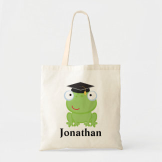 Idea personalizada graduado del regalo de la rana bolsas