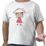 Idea rosada del regalo del florista camisetas