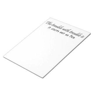 Idea única del regalo de las libretas de los regal blocs de papel