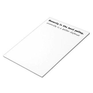 Idea única del regalo de las libretas de los regal bloc de papel