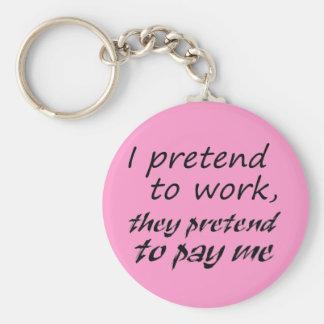 Idea única del regalo de los llaveros del trabajo
