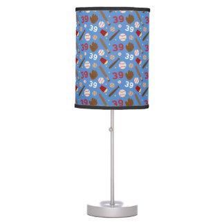 Idea uniforme del regalo del número 39 del jugador lámpara de mesilla de noche