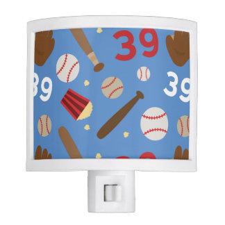 Idea uniforme del regalo del número 39 del jugador luz de noche