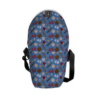 Idea uniforme del regalo del número 48 del jugador bolsas de mensajeria