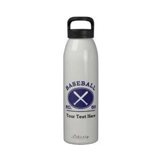 Idea uniforme del regalo del número 50 del jugador botella de beber