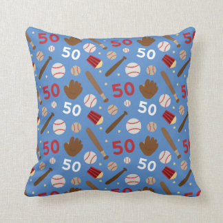 Idea uniforme del regalo del número 50 del jugador cojin