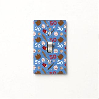 Idea uniforme del regalo del número 50 del jugador tapa para interruptor