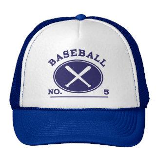 Idea uniforme del regalo del número 5 del jugador gorras de camionero