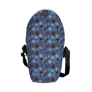 Idea uniforme del regalo del número 91 del jugador bolsa de mensajeria