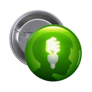 Idea verde pin redondo 5 cm