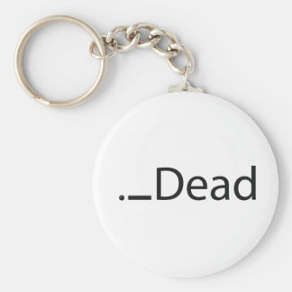 iDead Basic Round Button Keychain