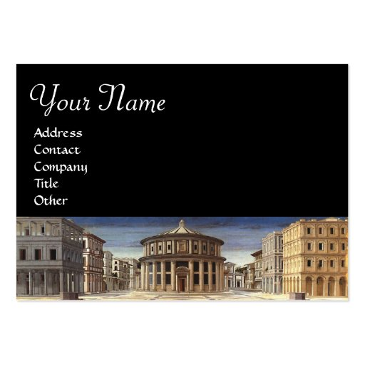 IDEAL CITY,black Large Business Card