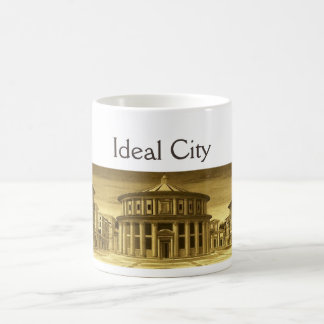 IDEAL CITY/RENAISSANCE ARCHITECTURE,ARCHITECT GOLD COFFEE MUG