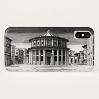 IDEAL CITY Renaissance Architecture Black White iPhone X Case