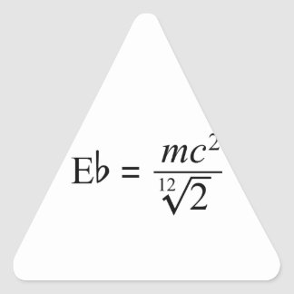 Ideal for the Music and Science geek! Triangle Sticker
