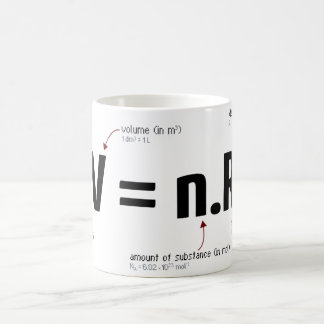 Ideal gas law coffee mug