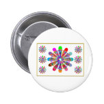 IDEAL GIFT:  LUCKY7   SevenSTAR Chakra Collection 2 Inch Round Button