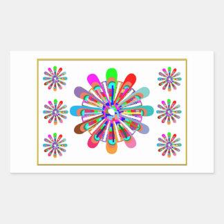 IDEAL GIFT:  LUCKY7   SevenSTAR Chakra Collection Rectangular Sticker