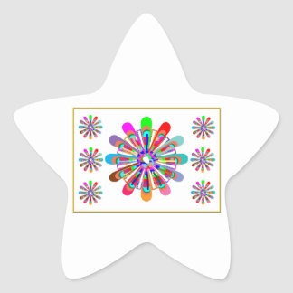 IDEAL GIFT:  LUCKY7   SevenSTAR Chakra Collection Star Sticker
