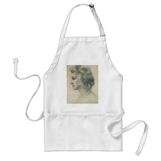 Ideal Head of a Woman by Michelangelo Adult Apron