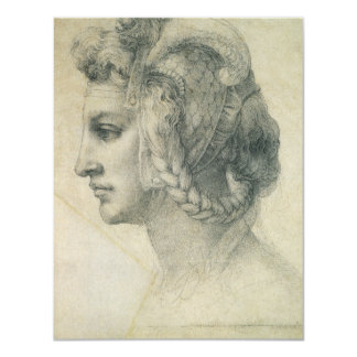 Ideal Head of a Woman by Michelangelo Invitations