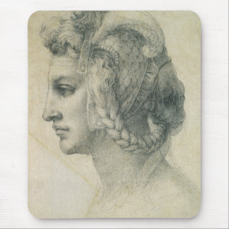 Ideal Head of a Woman by Michelangelo Mouse Pad