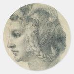 Ideal Head of a Woman by Michelangelo Sticker