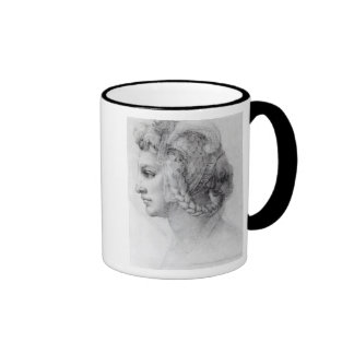 Ideal Head of a Woman, c.1525-28 Ringer Coffee Mug
