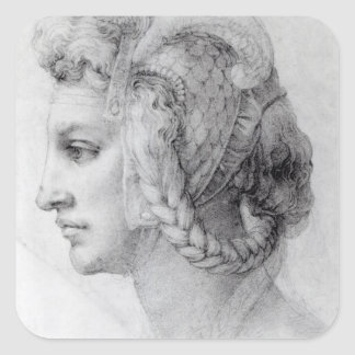 Ideal Head of a Woman, c.1525-28 Square Sticker
