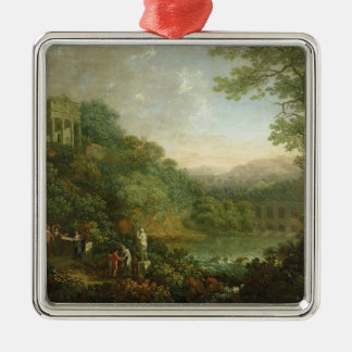 Ideal Landscape, 1776 Metal Ornament